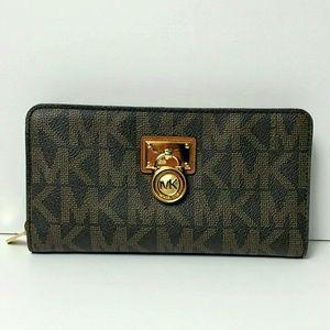 Michael kors Signature wallet Jet Set Brown PVC